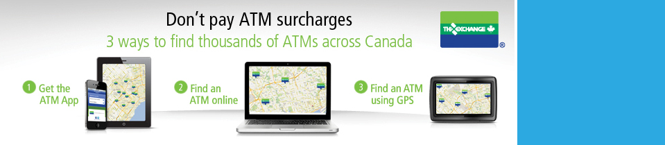 The Only Surcharge Free ATM Network in Canada